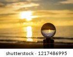 beautiful transparent glass... | Shutterstock . vector #1217486995