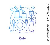 cafe or restaurant concept icon.... | Shutterstock .eps vector #1217506372