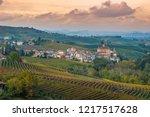 barolo town  piedmont  italy... | Shutterstock . vector #1217517628