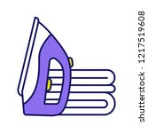 ironing color icon. steam iron. ...   Shutterstock .eps vector #1217519608