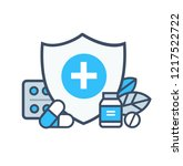 medical illustrations icon... | Shutterstock .eps vector #1217522722