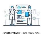 medical illustrations icon... | Shutterstock .eps vector #1217522728