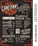 christmas menu template for... | Shutterstock .eps vector #1217525212
