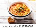 traditional italian dish  pasta ... | Shutterstock . vector #1217526802