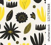 trendy seamless floral pattern. ... | Shutterstock .eps vector #1217532868