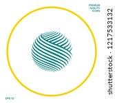earth logo design. graphic... | Shutterstock .eps vector #1217533132