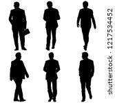 set silhouette businessman man... | Shutterstock .eps vector #1217534452