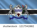 flag of republic of botswana is ... | Shutterstock . vector #1217542882