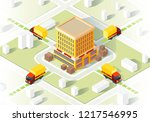 delivery service isometric... | Shutterstock .eps vector #1217546995
