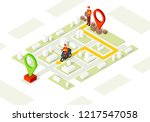 delivery service isometric... | Shutterstock .eps vector #1217547058