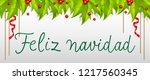 feliz navidad lettering with... | Shutterstock .eps vector #1217560345