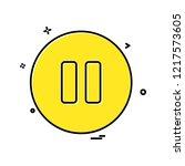 pause button icon design vector   Shutterstock .eps vector #1217573605