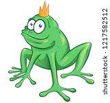 cute cartoon frog mascot...   Shutterstock .eps vector #1217582512