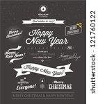 set of typographic elements....   Shutterstock .eps vector #121760122