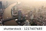 aerial view of chao phraya... | Shutterstock . vector #1217607685