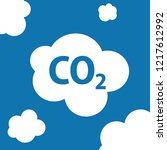 carbon dioxide or co2 clouds | Shutterstock .eps vector #1217612992