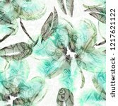 floral seamless pattern.... | Shutterstock . vector #1217621122