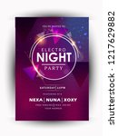 night party  music night poster ... | Shutterstock .eps vector #1217629882