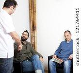 handshake with doctor | Shutterstock . vector #121764415
