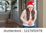 beautiful young woman wearing... | Shutterstock . vector #1217652478