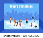 merry christmas poster with... | Shutterstock .eps vector #1217662222