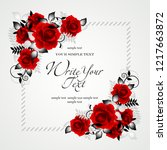 wedding card or invitation with ... | Shutterstock .eps vector #1217663872