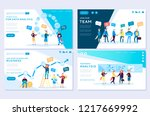 set of web page for distance... | Shutterstock .eps vector #1217669992