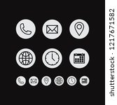 poster design contact  white... | Shutterstock .eps vector #1217671582