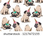 seamless pattern. adorable... | Shutterstock .eps vector #1217672155