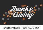 thanksgiving day card with... | Shutterstock .eps vector #1217672455