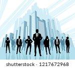 vector illustration of team of...   Shutterstock .eps vector #1217672968