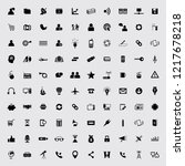 universal mix icon set of 100... | Shutterstock .eps vector #1217678218