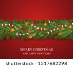 christmas and happy new year... | Shutterstock .eps vector #1217682298