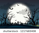 halloween background  night at... | Shutterstock .eps vector #1217683408
