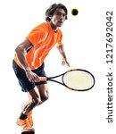 one caucasian hispanic tennis...   Shutterstock . vector #1217692042