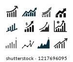 set of profits icon. profits... | Shutterstock .eps vector #1217696095