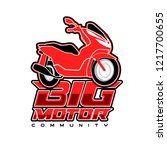 big motorcycle logo template | Shutterstock .eps vector #1217700655