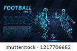football of blue glowing dots.... | Shutterstock .eps vector #1217706682