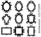 vector set of baroque frame... | Shutterstock .eps vector #121772395