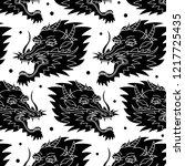 dragon traditional tattoo... | Shutterstock .eps vector #1217725435