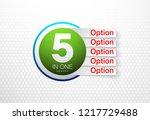 design vector illustration sign ...   Shutterstock .eps vector #1217729488