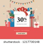 promo christmas  new year... | Shutterstock .eps vector #1217730148