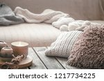 still life from home interior... | Shutterstock . vector #1217734225