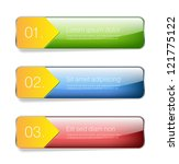 three glossy vector banners   ... | Shutterstock .eps vector #121775122