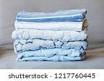 folded cozy fleece baby boy... | Shutterstock . vector #1217760445