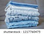 folded cozy fleece baby boy... | Shutterstock . vector #1217760475