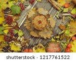 homemade tasty millet porridge. ... | Shutterstock . vector #1217761522