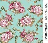 shabby chic or granny chic... | Shutterstock .eps vector #1217768422