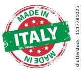 made in italy rubber stamp icon ... | Shutterstock .eps vector #1217781025