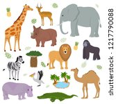 african animal vector wild... | Shutterstock .eps vector #1217790088